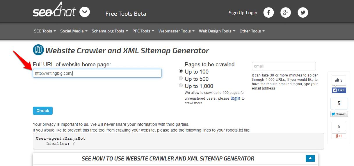 top free online xml sitemap generator tools