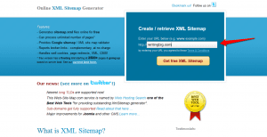XML Sitemap Generator from Web site map