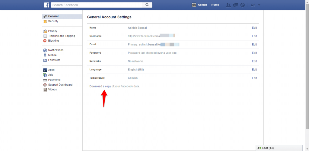 How to backup Facebook data-2