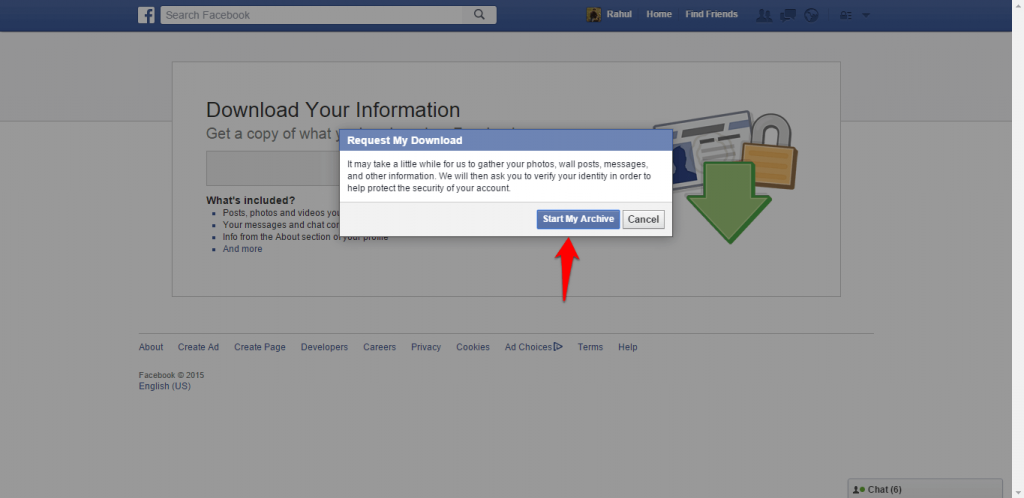 How to backup Facebook data-4