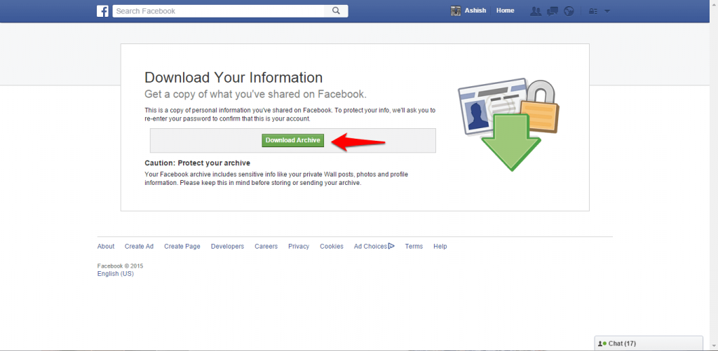 How to backup Facebook data-5