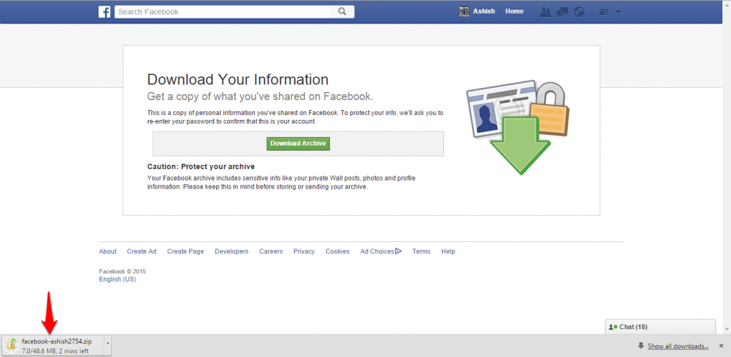 How to backup Facebook data-7