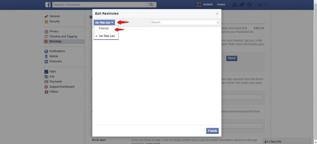 How to block and unblock people on Facebook -3