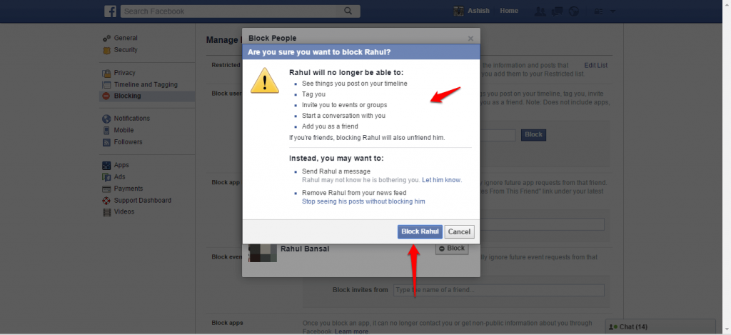 How to block and unblock people on Facebook - image 7