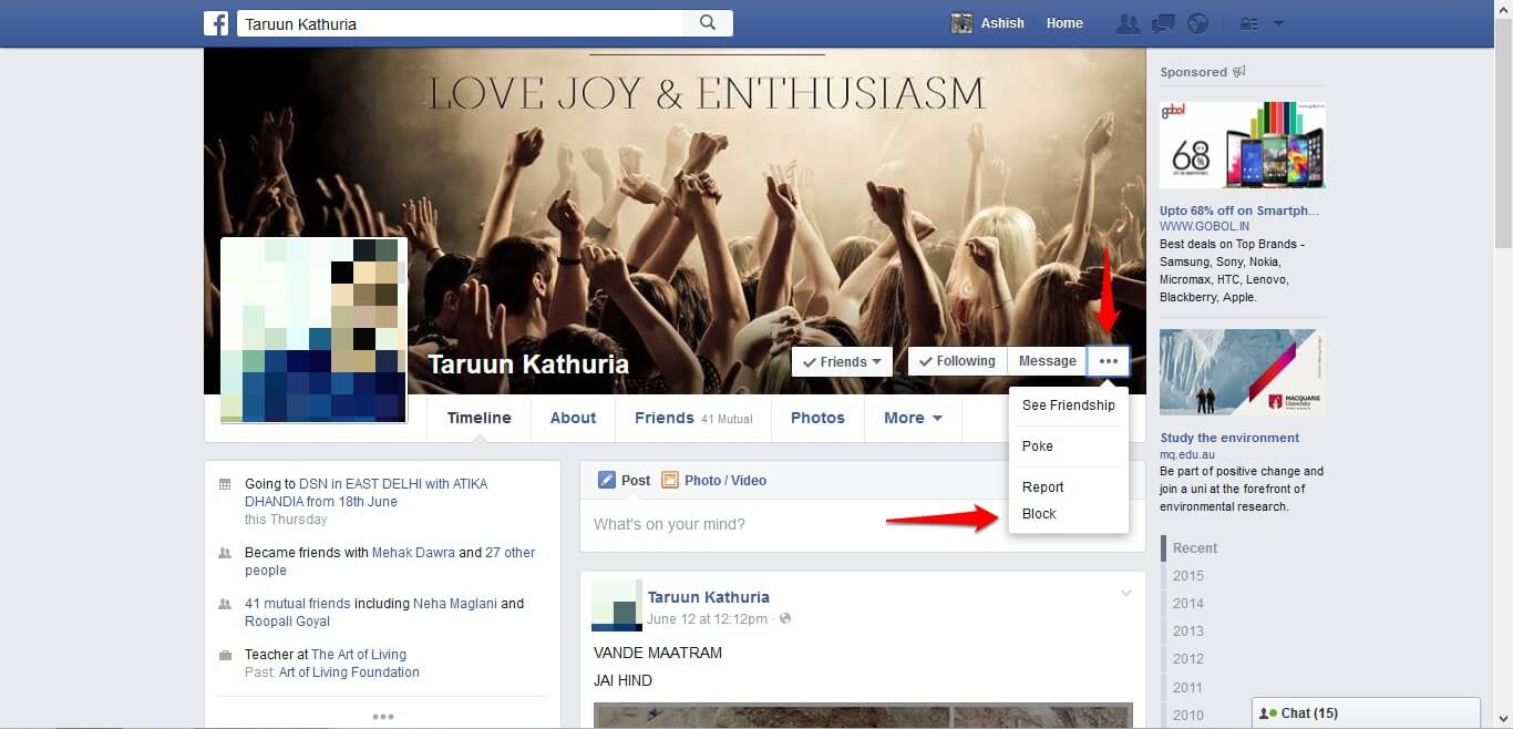 How to block and unblock people on Facebook - image 8