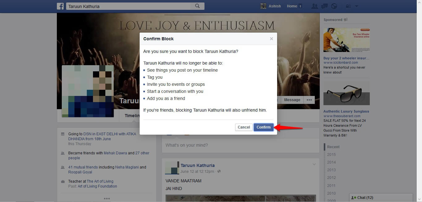 How to block and unblock people on Facebook - image 9