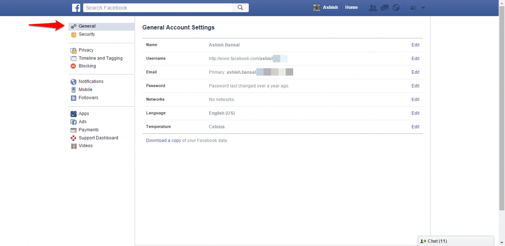 How to change name and other particulars in Facebook - image 2