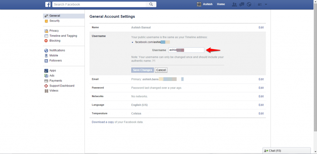 How to change name and other particulars in Facebook - image 6
