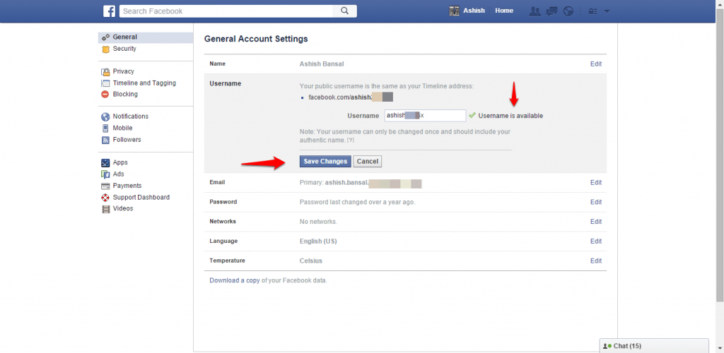 How to change name and other particulars in Facebook - image 7