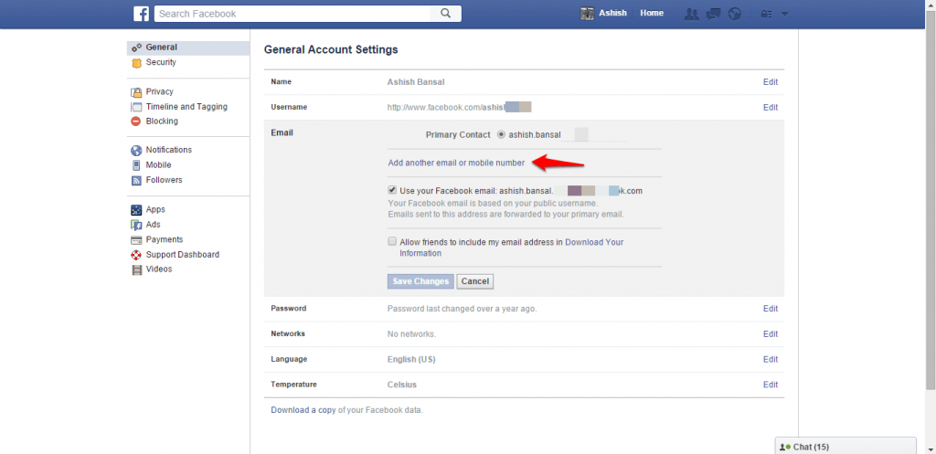How to change name and other particulars in Facebook - image 8