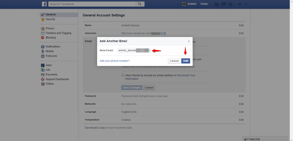 How to change name and other particulars in Facebook - image 9