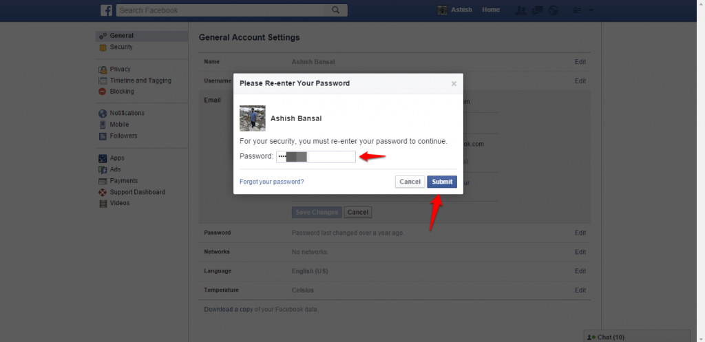 How to change name and other particulars in Facebook - image 10