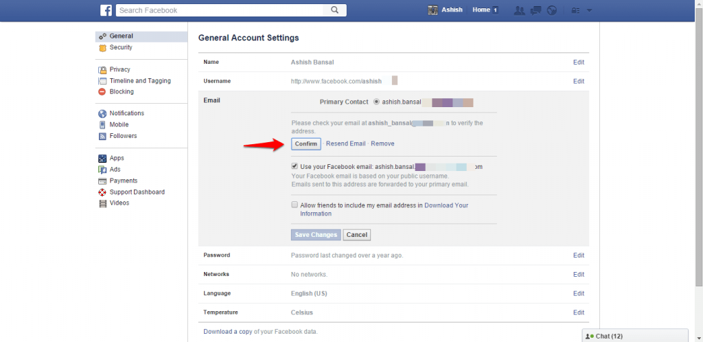 How to change name and other particulars in Facebook - image 11