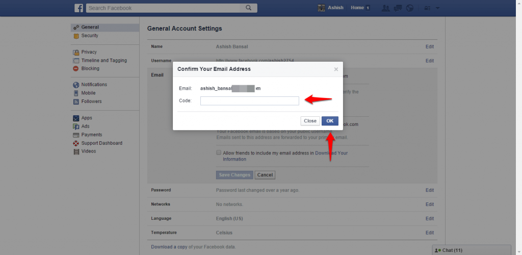 How to change name and other particulars in Facebook - image 12