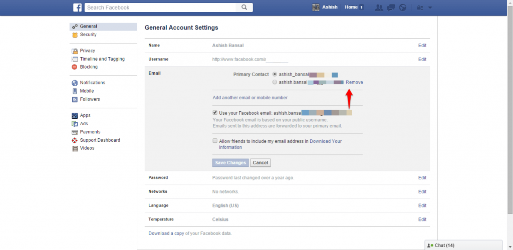 How to change name and other particulars in Facebook - image 13