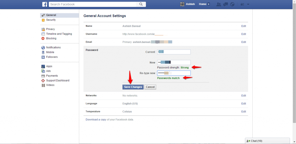 How to change name and other particulars in Facebook - image 14