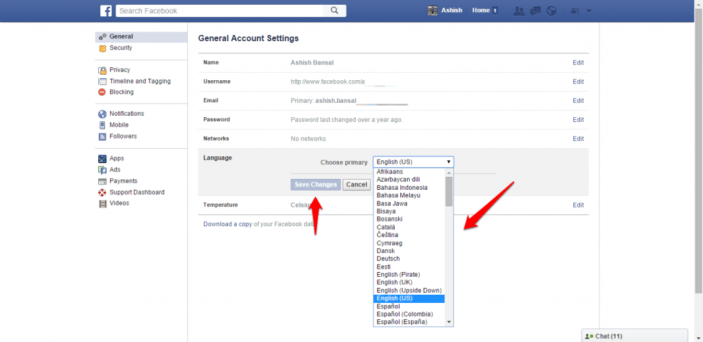 How to change name and other particulars in Facebook - image 15