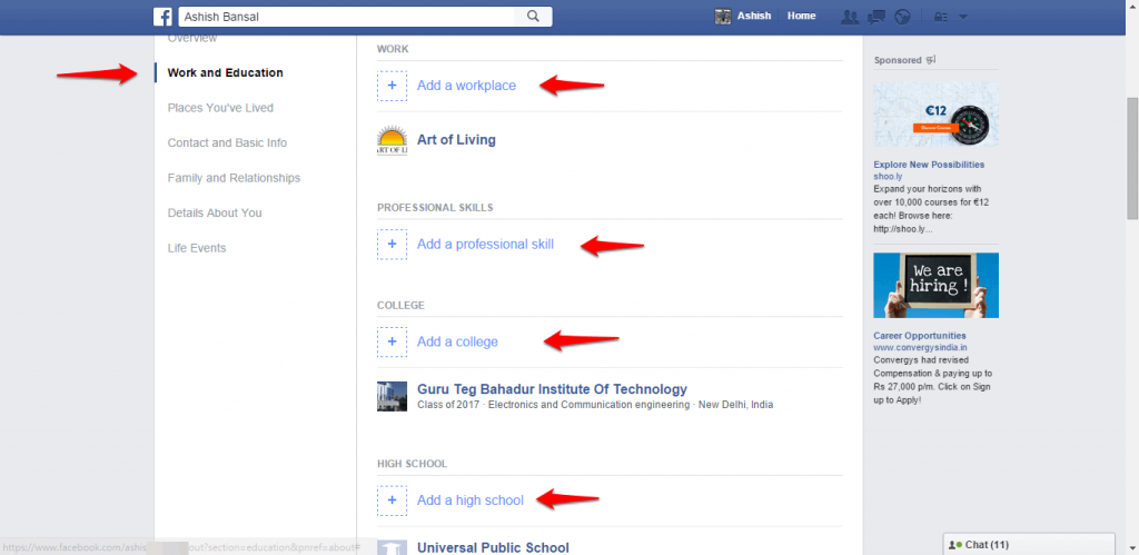 How to change name and other particulars in Facebook - image 17
