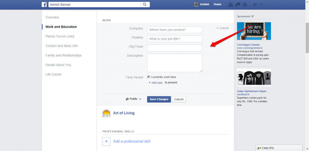 How to change name and other particulars in Facebook - image 18