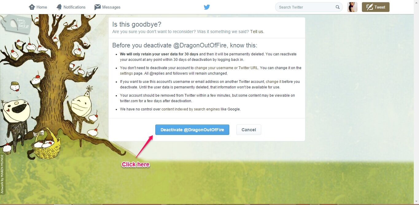 How to Delete your Twitter account-5