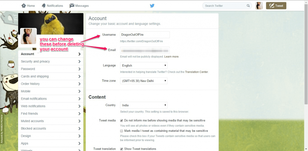 How to Delete your Twitter account-3