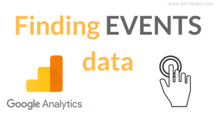 where to see events data in Google Analytics