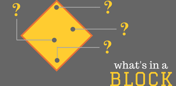 Structure of a block in a blockchain